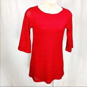 RSVP | Red Sheath Knit Dress | Size 8